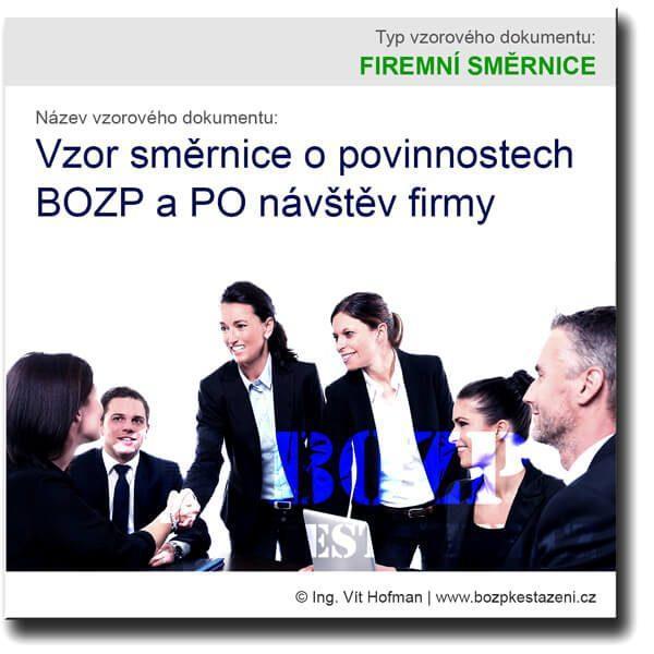 Vzor směrnice o povinnostech BOZP a PO návštěv