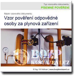 pověření odpovědné osoby za plynová zařízení