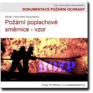 Požární poplachové směrnice - vzor ke stažení