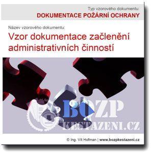 dokumentace začlenění administrativa
