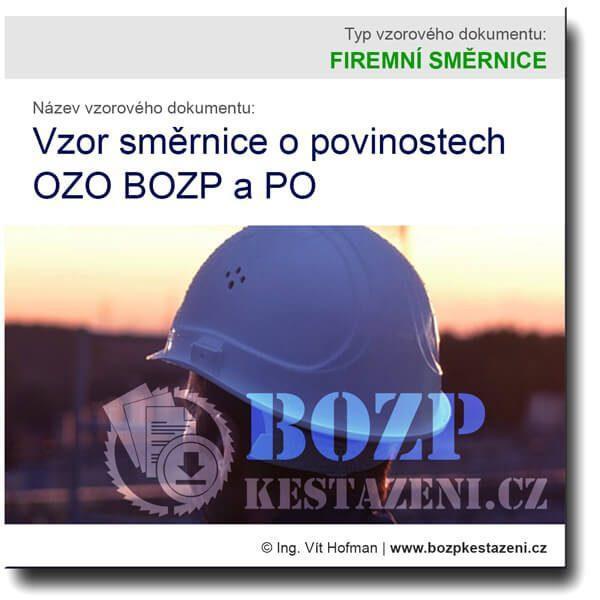 Vzor směrnice o povinnostech OZO BOZP