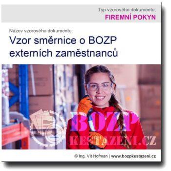 Vzor směrnice o BOZP externích zaměstnanců