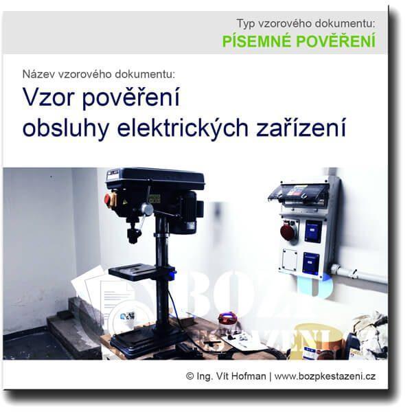 Vzor pověření obsluhy elektrických zařízení