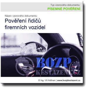 Pověření řidičů firemních vozidel