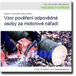 Vzor pověření odpovědné osoby za motorové nářadí