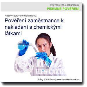 Pověření zaměstnance k nakládání s chemickými látkami