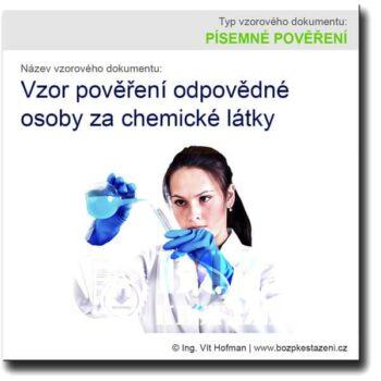 Vzor pověření odpovědné osoby za chemické látky
