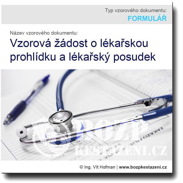 Vzorová žádost o lékařskou prohlídku