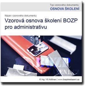 Vzor osnovy školení BOZP pro administrativu