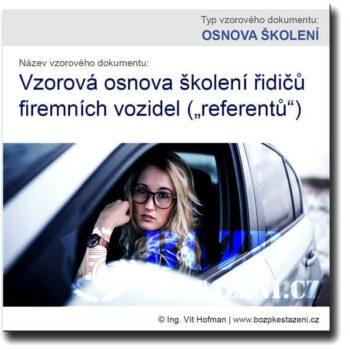 Vzor osnovy školení řidičů firemních vozidel