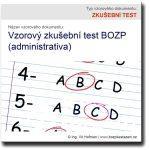 Vzorový zkušební test BOZP (administrativa)