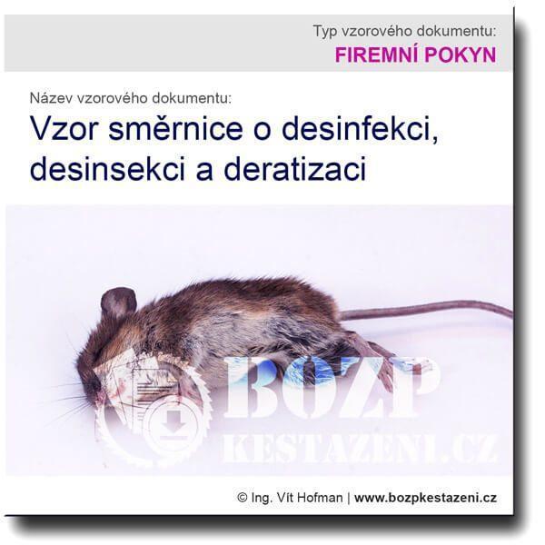 Vzor směrnice o desinfekci