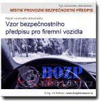 Vzor bezpečnostního předpisu pro firemní vozidla