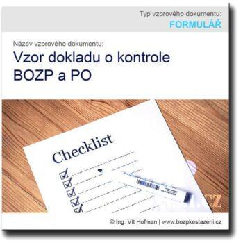 Vzor dokladu o kontrole BOZP a PO
