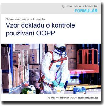 Vzor dokladu o kontrole používání OOPP