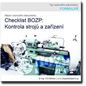 Checklist BOZP: Kontrola stroje a zařízení