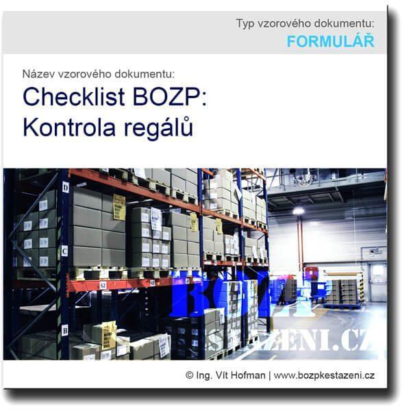 Checklist BOZP: Kontrola regálů