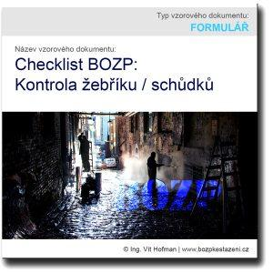 Checklist BOZP: Kontrola žebříku / schůdků
