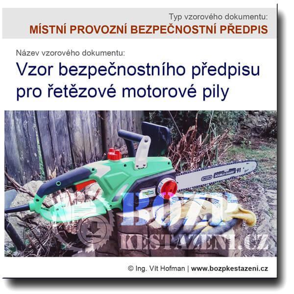 Vzor bezpečnostního předpisu pro motorové pily