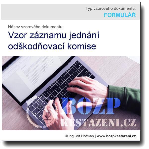 Vzor záznamu jednání odškodňovací komise
