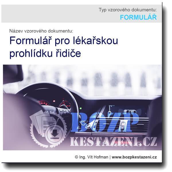Formulář lékařské prohlídky řidiče