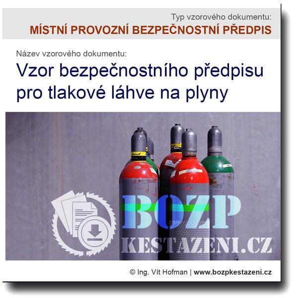 vzor předpisu pro tlakové láhve