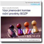 Vzor jmenování komise roční prověrky BOZP