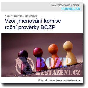 Jmenování komise roční prověrky BOZP