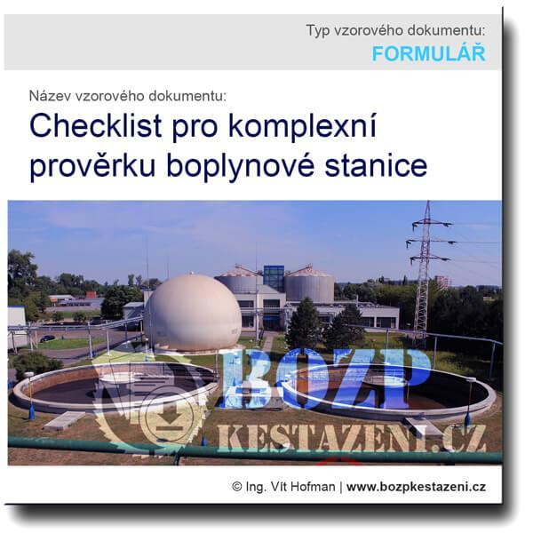 Checklist komplexní prověrky bioplynové stanice