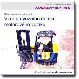 Vzor provozního deníku motorového vozíku
