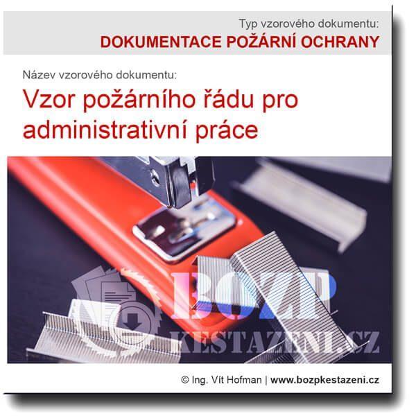 Vzor požárního řádu pro administrativu