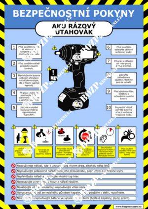 Bezpečnostní pokyny - AKU rázový utahovák
