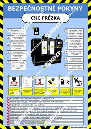 Bezpečnostní pokyny - CNC frézka