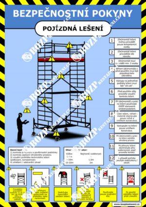 Bezpečnostní pokyny - Pojízdné lešení