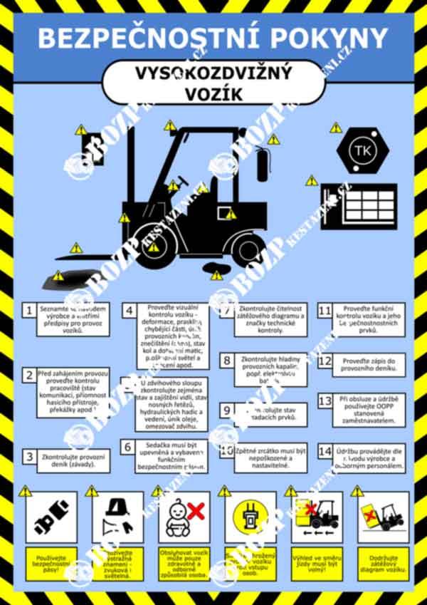 Bezpečnostní pokyny VZV