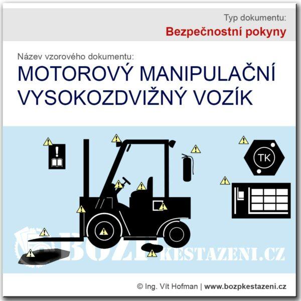 Bezpečnostní pokyny pro vysokozdvižný vozík