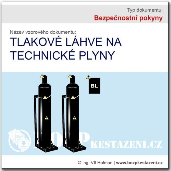 Bezpečnostní pokyny - tlakové láhve