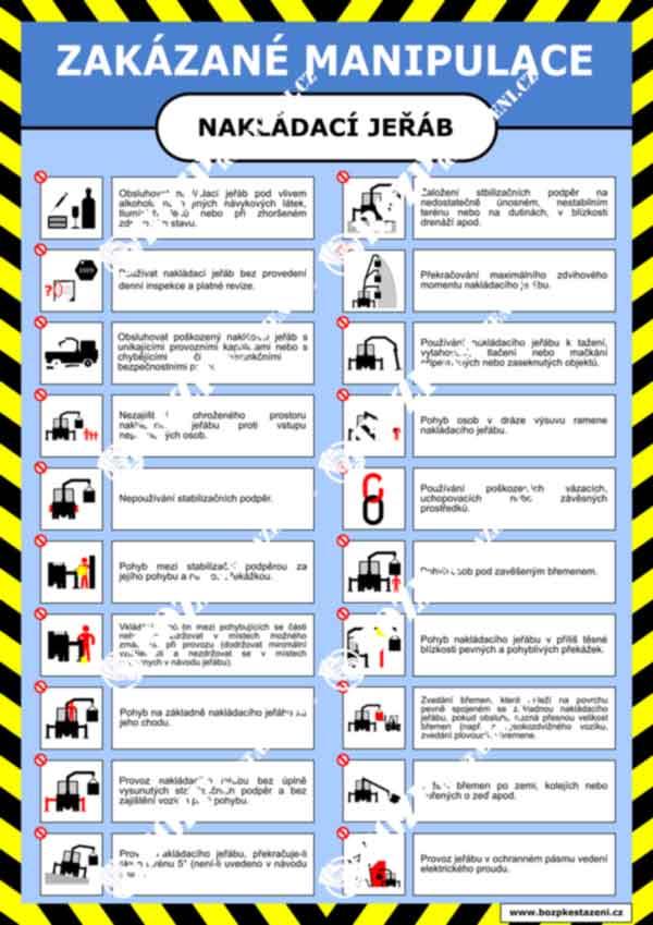 Bezpečnostní pokyny - Nakládací jeřáb