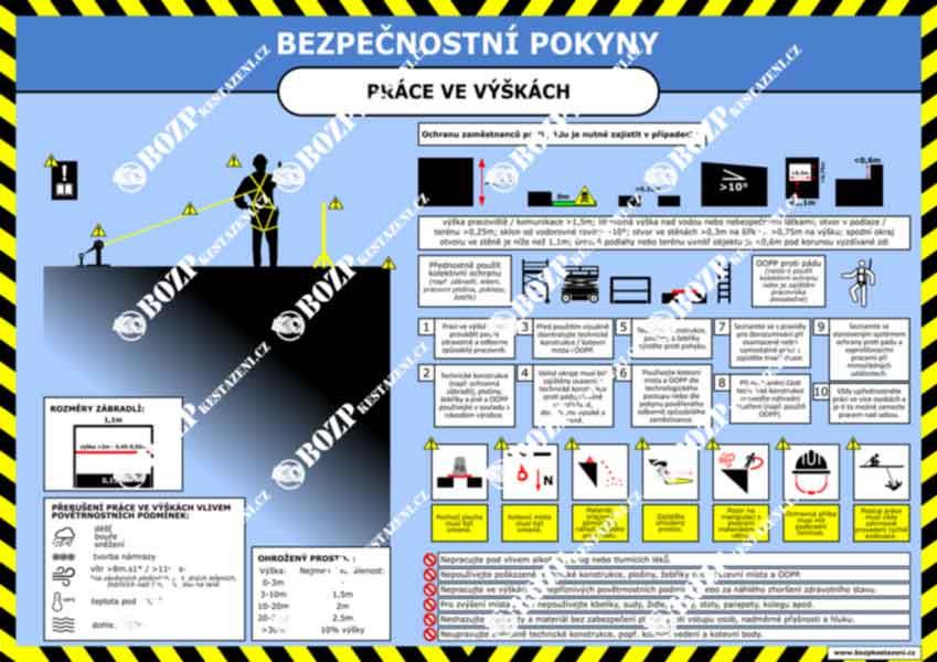 Bezpečnostní pokyny - Práce ve výškách