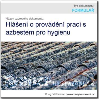 Hlášení o provádění prací s azbestem