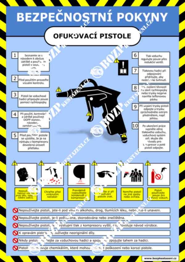 Bezpečnostní pokyny - Ofukovací pistole