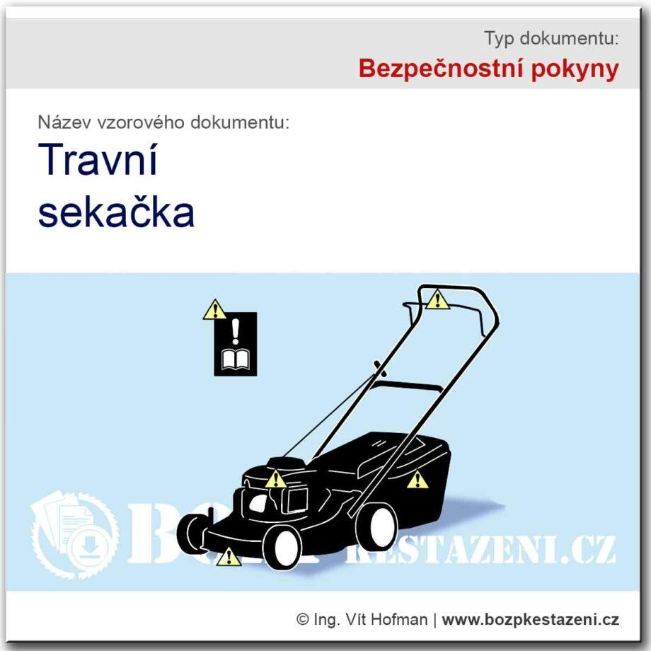 Bezpečnostní pokyny - travní sekačky