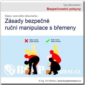 Bezpečnostní pokyny - ruční manipulace s břemeny