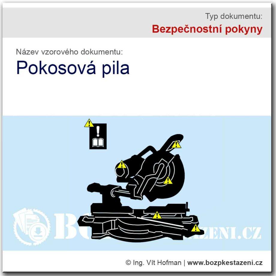 Bezpečnostní pokyny - Pokosová pila